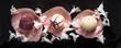 Trüffelpralinen in Blütenblätter