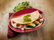 piadina with spinach grilled capsicum and cheese