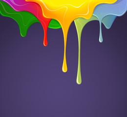 Colour paints. Vector illustration