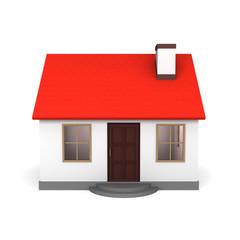 赤い屋根の家 正面