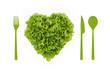 heart-shaped salad, lettuce