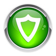 bouton internet bouclier protection security icon.