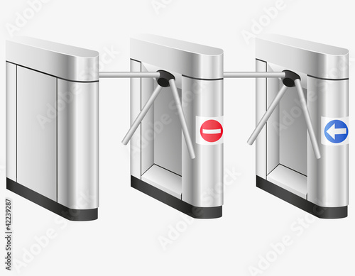 turnstile vector illustration