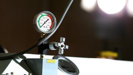 industrial pressure barometer at work
