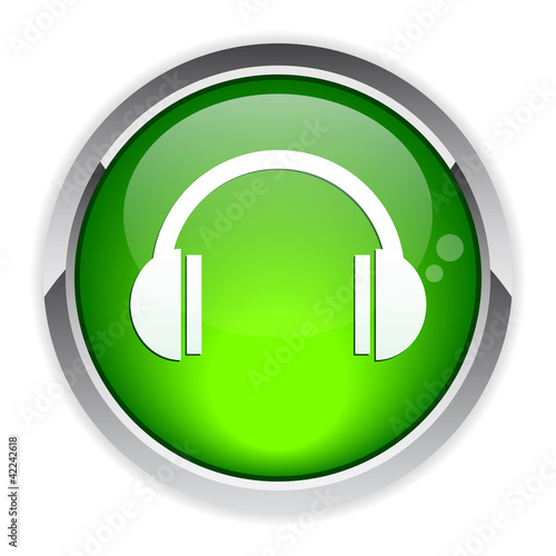 bouton internet earphone icon.