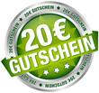 """Button Banner """"20 € Gutschein"""" grün/silber"""