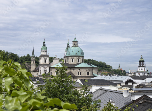 Above the roofs of Salzburg Oldtown