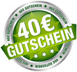 """Button Banner """"40 € Gutschein"""" grün/silber"""