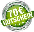 """Button Banner """"70 € Gutschein"""" grün/silber"""