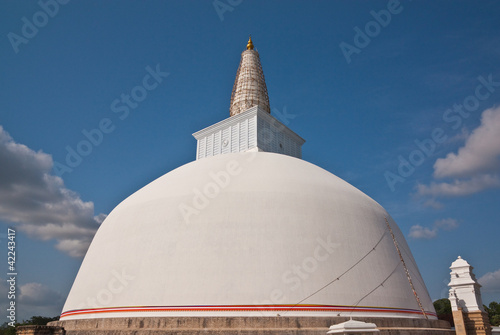 Huge white stupa(Mirisavatiya Dagoba) in Anuradhapura, Sri Lanka
