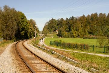 Gleis Gleisbett Strecke Bahnstrecke Bahn Schienen