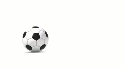 Falling soccer ball with alpha channel