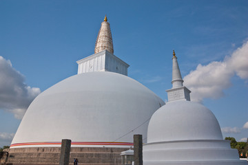 Huge white stupa(Mirisavatiya Dagoba) in Anuradhapura, Sri Lanka