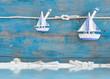 Sealife - Maritimer Hintergrund mit Segelbooten