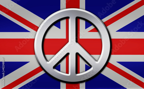 Aluminum Union Jack and Peace Sign