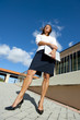 Confident determined business woman outdoor