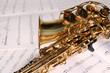 Saxophon auf Noten 1