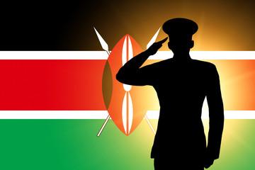 The Kenyan flag