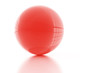 clear abstract glass sphere on white background