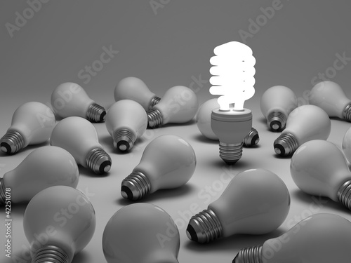 Energy saving light bulb, the different concept