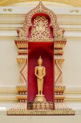 Buddha stands.