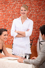 Waitress in a restaurant
