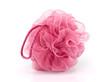 Pink bath puff
