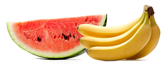 Watermelon and bananas