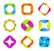 Logo set. Square basis. Infinite shape