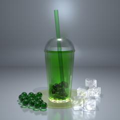 Green Bubble Tea II