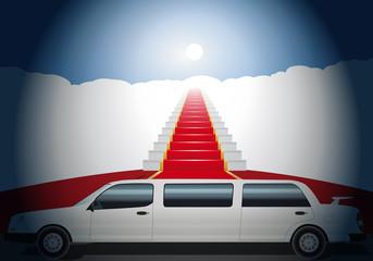 Limousine_Escalier_Tapis rouge