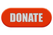Button orange Seiten rund DONATE