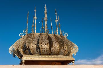 Tour Hassan golden decorations Rabat Morocco