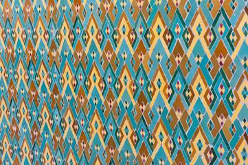 Arabic islam wall pattern Casablanca Morocco