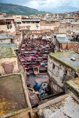 Tannery in Fes Morocco