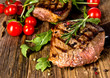 canvas print picture - Grilled beef steak