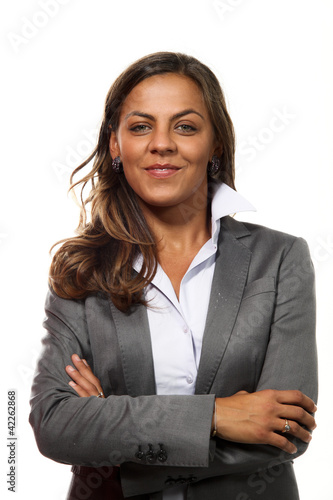 portrait secretary on white background