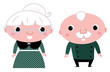 Cute elderly couple: grandmother and grandfather