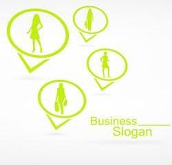 logo mode sur signet vert