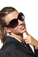 woman hope with sunglasses