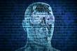 Digitales Ich Konzept im Binärcode
