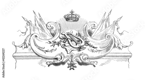 Music Symbol : Lyra - Royal Ornament 17th century