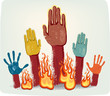 Voting fire hands