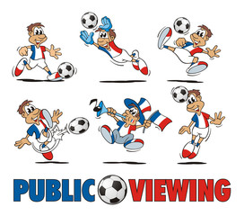 Soccer France Cartoon Set