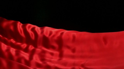 Red velvet fabric, Slow Motion