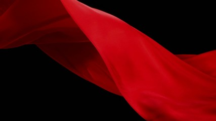 Red fabric, Slow Motion