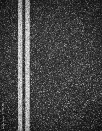 Asphalt road top view background