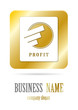 Business logo gold design