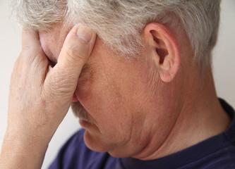 older man depressed or grieving