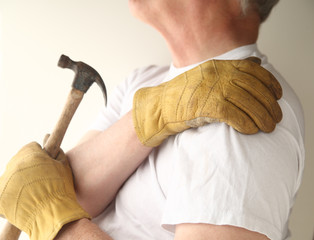 trying to do home maintenance with shoulder pain
